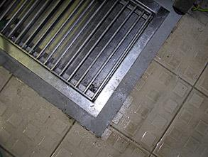 Grating seat repaired using Belzona 4111 (Magma-Quartz)