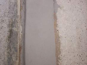 Hi-build Belzona 4141 (Magma-Build) applied to vertical surface